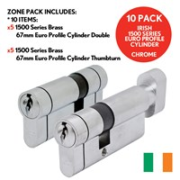 1500/27/OFFER/SCP | ZONE IRISH 1500 EURO PROFILE CYLINDERS CHROME OFFER