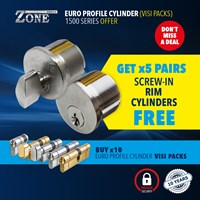 1500/OFFER | 1500 SERIES EURO PROFILE CYLINDERS FREE PAIRS OF SCREW-IN RIM OFFER