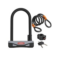 1600HBKIT | 2 PART BIKE LOCK KIT WITH D LOCK AND CABLE