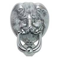 4A401-CLAM | NU LION'S HEAD DOOR KNOCKER HARDEX CHROME CLAM