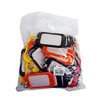 CA055   HOTEL KEY TAGS ASSORTED COLOURS BAG OF 30