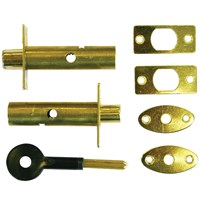 DF010 | 838-335 DOOR BOLT 2+KEY BRASS