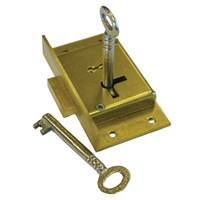 GRP-727CUPBLOCK | A&E SQUIRE - 727 SERIES BRASS 2 LEVER CUPBOARD LOCK
