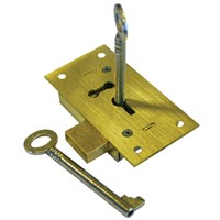 GRP-743CUPBLOCK | A&E SQUIRE - 743 SERIES BRASS CUPBOARD LOCK
