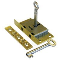 GRP-782BBOXLOCK | A&E SQUIRE - 782 SERIES BRASS 2 LEVER BOX LOCK