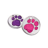 GRP-GLT01000 | 25MM GLITTER PAW INSERT PET TAG