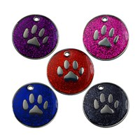 GRP-GLT01500 | 25MM GLITTER PAW PET TAG