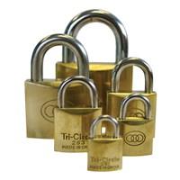 GRP-TRIBRASS | TRI-CIRCLE - BRASS PADLOCK VISI PACKED