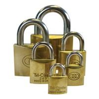 GRP-TRIBUDBRASS | TRI-CIRCLE -  BRASS PADLOCK BOXED