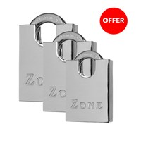 GRP-Z100 | ZONE 100 SERIES - BRASS CLOSED SHACKLE PADLOCK
