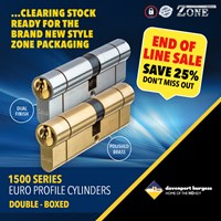 GRP-Z1500DB | ZONE 1500 SERIES - EURO DOUBLE CYLINDER BOXED