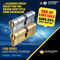 GRP-Z1500DV | ZONE 1500 SERIES - EURO DOUBLE CYLINDER VISI PACKED