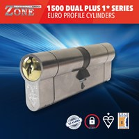 GRP-Z1500PLD | 1 STAR ZONE 1500 DUAL PLUS SERIES EURO PROFILE DOUBLE CYLINDERS