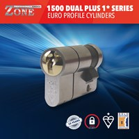 GRP-Z1500PLS | 1 STAR ZONE 1500 DUAL PLUS SERIES EURO PROFILE SINGLE CYLINDERS