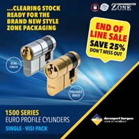 GRP-Z1500SV | ZONE 1500 SERIES - EURO SINGLE CYLINDER VISI PACKED