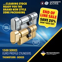 GRP-Z1500TB | ZONE 1500 SERIES - EURO KEY AND TURN CYLINDER BOXED