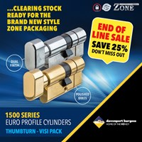 GRP-Z1500TV | ZONE 1500 SERIES - EURO KEY AND TURN CYLINDER VISI PACKED