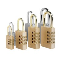 GRP-Z24 | ZONE 24 SERIES - BRASS COMBINATION OPEN SHACKLE PADLOCK VISI PACKED