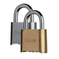 GRP-Z27 | ZONE 27 SERIES - BRASS COMBINATION OPEN SHACKLE PADLOCK VISI PACKED