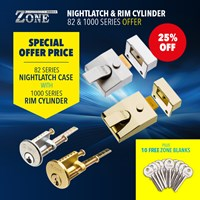 GRP-Z82OFFER | ZONE NON DEADLOCKING NIGHTLATCH CASE AND RIM CYLINDER WITH BLANKS OFFER