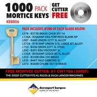 KBB006 | MORTICE BLANK AND 300SF CUTTER OFFER