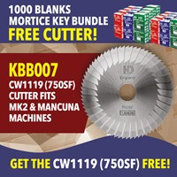 KBB007 | MORTICE BLANK AND 750SF CUTTER OFFER