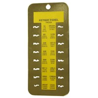 KCA001 | KWP1 KEYWAY PANEL & CHART