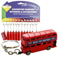 KRA1426 | RED BUS KEYRING (CARD OF 12)