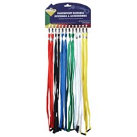 KRA1494 | NARROW LANYARDS 6 COLOURS (CARD OF 12)