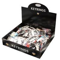 KRA1525 | ASSORTED PVC KEYRINGS (BOX OF 60)