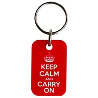 KRA155 | KEEP CALM KEYRING - RED