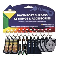 KRA1558 | DR WHO PVC KEYRINGS (CARD OF 12)