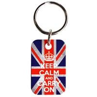 KRA159 | KEEP CALM KEYRING - UNION JACK