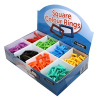 KRA1692 | LARGE SQUARE RINGS (BOX OF 200)