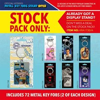 KRA1730/A | METAL KEY FOBS STOCK PACK ONLY