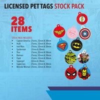KRA1800/B1 | LICENSED PET TAGS STOCK PACK 28 TAGS INCLUDED