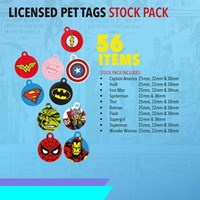 KRA1800/B2 | LICENSED PET TAGS STOCK PACK 56 TAGS INCLUDED