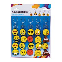 KRA1826 | KEYSSENTIALS EMOJI KEY RINGS CARD OF 20