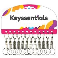 KRA255 | KEYSSENTIALS - PULL APART KEYRING (CARD OF 12)