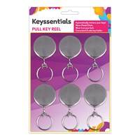 KRA259 | SMALL KEY REEL WITH 18 CHAIN (CARD OF 6)
