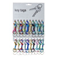 KRA281 | PATTERNED D CLIP (CARD OF 20)