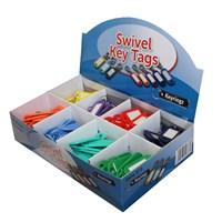 KRA307   LABEL2 COLOUR LABELS SWIVEL CLIP (BOX 120)