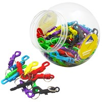 KRA392 | PLASTIC DOG CLIP DISPENSER JAR (96 CLIPS)