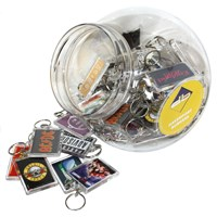 KRA395 | ACRYLIC KEYRING DISPENSER JAR (60 KEYRINGS)