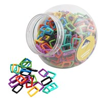 KRA398 | LARGE SQUARE RING DISPENSER JAR (400 RINGS)