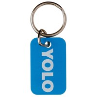 KRA829 | YOLO TEXT TALK METAL KEYRING