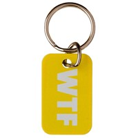 KRA831 | WTF TEXT TALK METAL KEYRING