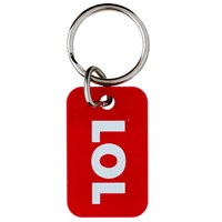 KRA834 | LOL TEXT SPEAK METAL KEYRING