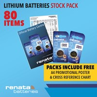 LBSP1/A | LITHIUM BATTERIES STOCK PACK