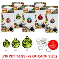 LPTB01 | MARVEL PET TAG BUNDLE (2 OF EACH)